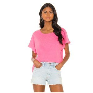 NWT SUNDRY Square Tee in Pigment Neon Pink